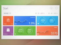 Dribbble - Metro Start Dashboard by Alex Lupse