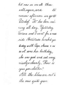 imperial-russia:  Fragment of a letter from Grand Duchess Olga Nikolaevna to her nanny, M. Eager