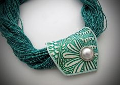 Folded Beads using my Conga line texture stamp | Flickr - Photo Sharing!