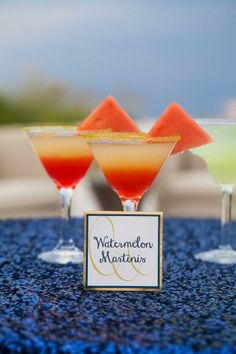 Signature Drink: Watermelon Martinis | Photography: Jamie Lee Photography