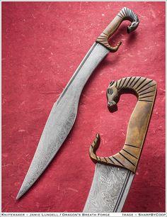 Photos - SharpByCoop's Gallery of Handmade Knives Fantasy Sword, Fantasy Weapons, Swords And Daggers, Knives And Swords, Katana, Cool Knives, Pretty Knives, Medieval Weapons, Handmade Knives
