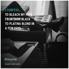 To bleach My hair from dark black to platina blond in a few days #hairconfession @keraste_official