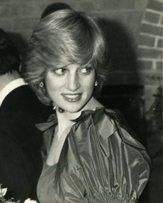October 26, 1982: Princess Diana accompanied Prince Charles to a concert given as a belated wedding gift by Russian cellist Mstislav Rostropovich at the Barbican Arts Centre, London. Photo: Alpha-Globe Photos Inc. 1982 Princess Diana Princessdianaretro