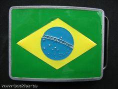 Brazil Brasil Brasilia Brazilian Rio Flags Belt Buckle