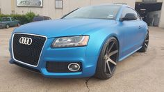 Audi S5 wrapped in 3M 1080 Matte Blue Metallic sitting on … | Flickr
