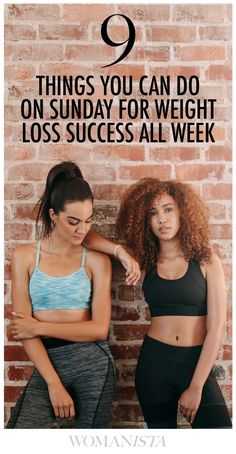 9 Things To Do On Sunday for Weight Loss All Week - Check out what they are at Womanista.com