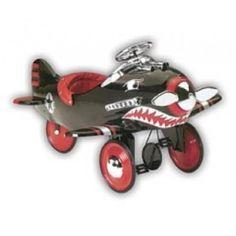 Vintage Style Pedal Plane | kids pedal cars