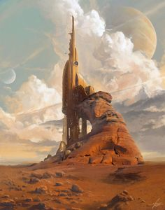 Some of the sci-fi art looks like it's a real place--this art fits that. --Pia (Daily Inspiration #1238)