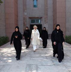 The all-female protection team who guarded Camilla, Duchess of Cornwall, on a visit to the United Arab Emirates.
