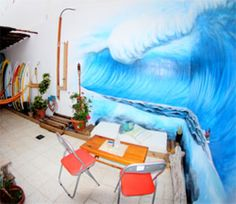 Surf House Clandestino Surf Surf House, Surfing, Painting, Art, Lanzarote, Art Background, Painting Art, Kunst, Surf