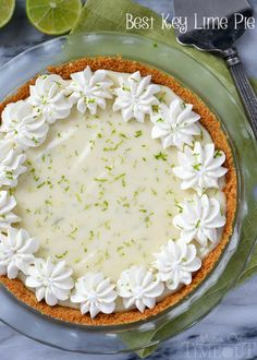 The Best Key Lime Pie recipe EVER! And so darn easy too! You won't be able to stop at just one slice! Confession, I used regular limes too!