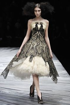 Alexander McQueen - black peacock dress