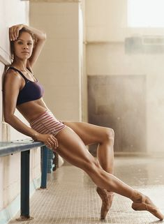 Ballerina Misty Copeland's Favorite Ab-Sculpting Moves (Mainly pinning because she is amazing!!)