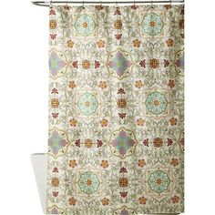 Elevate your powder room or master bath aesthetic with this charming cotton shower curtain, showcasing a patchwork design for country-chic style.