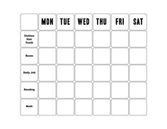 chore list calendar template | Here is download link of this Chore ...