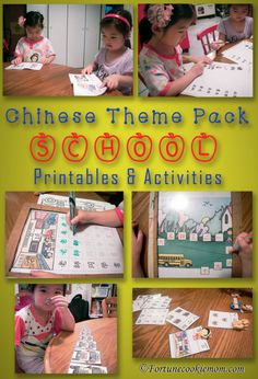 Don't know where to find Chinese resources for your kids? This is a post to show you where to find it, and how to use it. They are awesome!! I love it. http://fortunecookiemom.com/2016/09/school-theme-printables-activities/