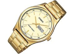 Casio Mens Mtpv003g9a Gold Day Date Quartz Watch with Gold Dial ** Check this awesome product by going to the link at the image.