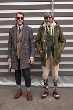 Smartened-up outdoor #menswear styling live from the #Pitti Uomo trade show in Florence  WGSN street shot, Pitti Uomo autumn/winter 20...