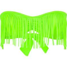neon  GUESS Fringe Bandeau Bikini Top 199506351 | swim | Tillys.com