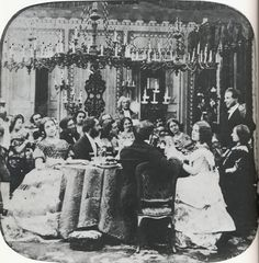 1860s dinner party.