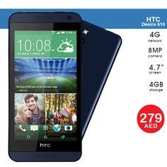 AED 279   HTC Desire 610, 4G 8GB 8MP , Blue - Refurbished  Tel ☎️ : 045576800 ➜ WhatsApp 📱: 0551045757  WWW.ASET-UAE.COM #asetuae #htc #mobiles #dubai  #uae #deals Dubai, Daily Deals, Mobiles, Blue, Mobile Phones