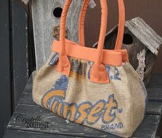 Sewing with Burlap Potato Sacks-good tutorial for working with burlap/coffee bags! Burlap Coffee Bags, Coffee Bean Bags, Coffee Sacks, Coffee Beans, Coffee Mugs, Burlap Projects, Burlap Crafts, Sewing Projects, Diy Projects