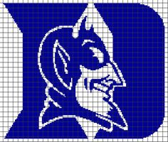 Duke Blue Devils – (Chart/Graph AND Row-by-Row Written Instructions) – 01 — YarnLoveAffair.com