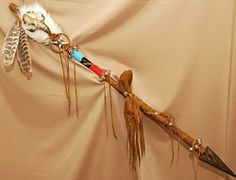 "native american talking Sticks | Native American Indian Trail Marker Stick 43"" (tm1)"