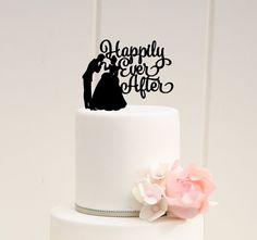 Cinderella Cake Topper  Wedding Cake Topper  by ThePinkOwlDesigns
