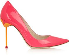 Sophia Webster Coco neon patent-leather pumps / perfect for @StudioDIY