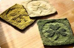 Knit St. Patrick's Day Cloths