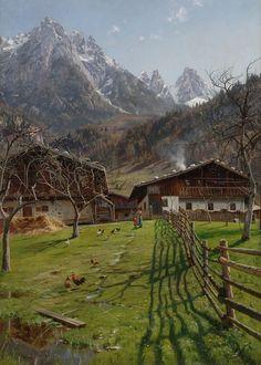 Peder Mørk Mønsted (1859-1941): Werfen, near Salzburg, Austria