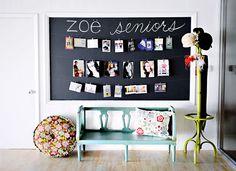 Zoe portrait art studio. . .love this display