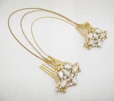 Bridal hair accessories Boho bridal chain by TheLadyBride on Etsy