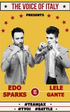 #Battle 1 - The Voice of Italy 2015 - #tvoi #EdoSparks vs #LeleGante #TeamLoser