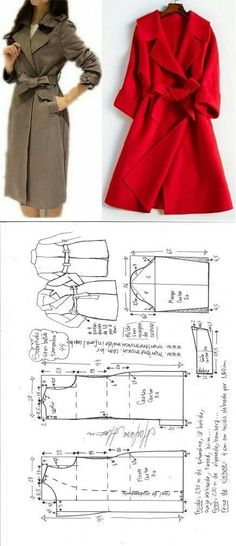 ✂✂ All Things Sewing & Pattern Making Coat Patterns, Clothing Patterns, Dress Patterns, Sewing Patterns, Sewing Coat, Sewing Clothes, Fashion Sewing, Diy Fashion, Costura Fashion