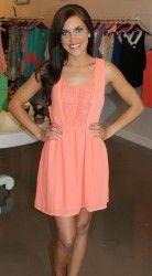 I like it in mint too! - Pastel Chiffon Dress-Peach
