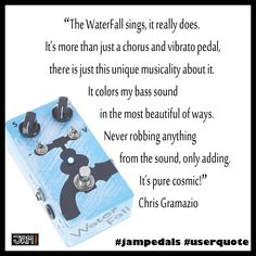#jampedals #userquote #waterfall User Quotes, Waterfall, Singing, Pure Products, Waterfalls