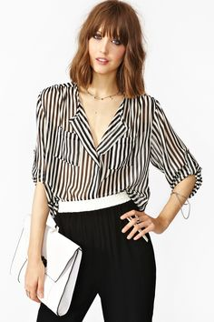 perfect striped sheer shirt
