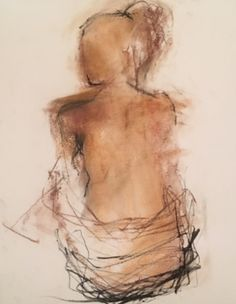"""Holly Irwin, """"Trust,"""" conte crayon and charcoal on paper"""