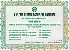 Diploma de Maior Campeão Nacional