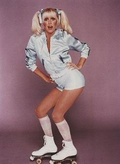 Suzanne Somers on skates