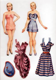 Vintage Saalfield Faye Emerson Paper Dolls 1952 Cut with Clothes | eBay