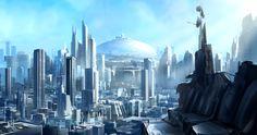 Blue City by *JoakimOlofsson on deviantART