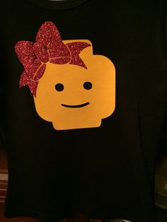 Little Lego Zoey t-shirt. Made with Siser easyweed vinyl and my Silhouette Cameo. Lego Birthday Party, 6th Birthday Parties, Lego Projects, Vinyl Projects, Disney Reveal, Lego Shirts, Sister Crafts, Lego Head, Cricket Crafts