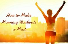 How to Make Morning Workouts a Must If you are like me, then the last thing you want to do after a long day is work out. When you are tired and have a ton on your plate, it is hard to find the motivation to lace up those sneakers! Morning workouts are the simplest solution to this problem! People who work out in the morning tend...  Read More at http://www.chelseacrockett.com/wp/lifestyle/how-to-make-morning-workouts-a-must/.  Tags: #Exercise, #HowToMakeMorningWorkoutsAM