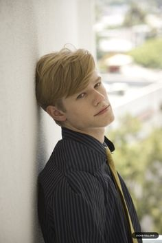 Lucas Till  - 2018 Regular blond hair & chic hair style.