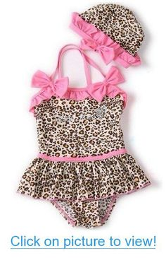 new ideas moda infantil feminina bebe Baby Girl Swimwear, Baby Girl Swimsuit, Kids Swimwear, Cheetah Print Clothes, Bikinis, Swimsuits, Bikini Modells, Little Girl Dresses, Baby Dress