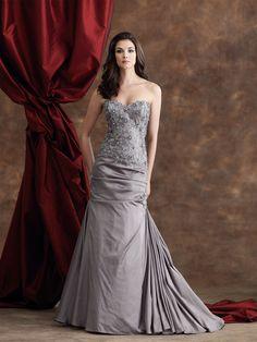 Strapless iridescent ball gown