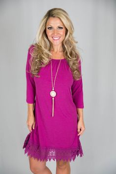 Pink Coconut Boutique | A Manhattan Love Story Tunic/Dress - Magenta